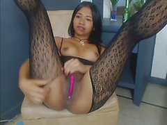 Cachondita en Stockings Masturbandose Rico