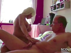 German Monster Tit Pornstar Teen Fuck with old Stranger