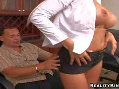 Puma Swede with gigantic tits sucks Sergio