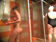 Russian Milfs spied in public shower