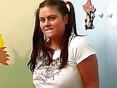 BBW Teen Jenny masturbating at home