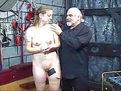 Bondage slut gets spanked