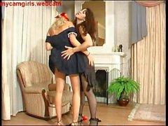 Lady of the House Punishes the Maid - mycamgirls.webcam