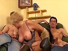 Granny Gets 2 Dicks 53