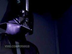 Parady of Star Wars with Princess Leia masturbating and blowing Darth Vader
