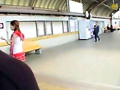 Each Morning, The Eye Eye Spree On A Commuter Train