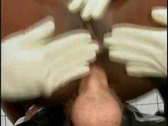 4 Chocolate Nurses For 1 Big White Dick