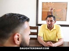 DaughterSwap - Slutty Besties baise eachothers Dads