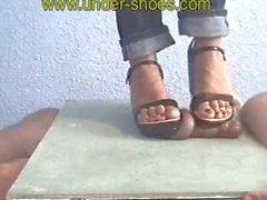 Mistress cockboard trample shoejob