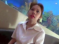 Filippinsk Nympho Slag och knullar en vit kuk