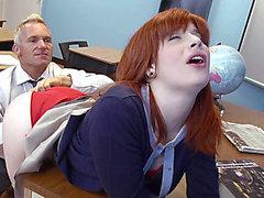 High school teacher having sex with a student threatening-threatening HD Porn