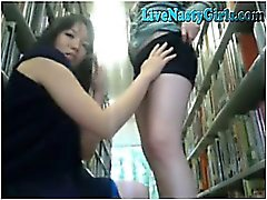2 Cam Girls Get Naked In Public Library 6