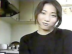 Japanese Cutie Masturbates And Orgasms