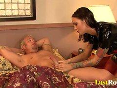 Patient gets pleasured by naughty nurse Angelina Valentine