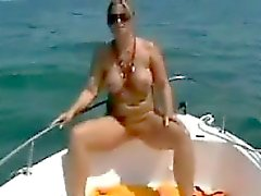 Step Mamma auf dem Boot