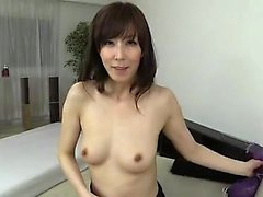 Hot asian milf housewife blowjob and facial