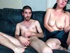 Sexy slut secretary whore shows her big boobs on webcam