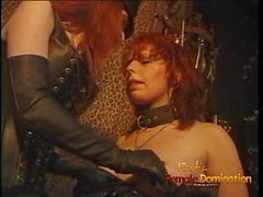 Luscious redhead tart enjoys being spanked hard in the dunge