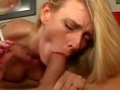 Hot Blonde MILF Darryl Hanah Smoking BJ