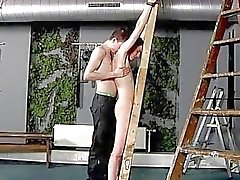 Amazing twinks Victim Aaron gets a whipping, then gets his slot