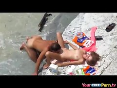 Voyeur Movies Couple Fucking about the Seaside