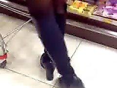 Asian milfs at supermarket