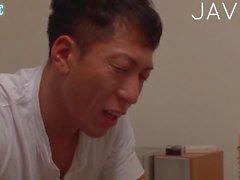 Busty Jap solo masturbating