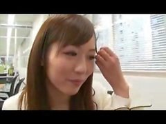 Japanese Yuu Asakura Office Blowjob