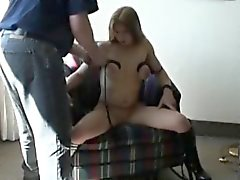 Submissive Young Chick Gets Her Boobs Tied In Her Apartment