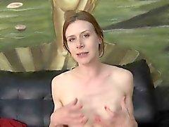 Skinny Brunette Slut Getting Her Face Totally Smashed