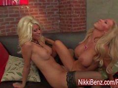 Nikki Benz Loves Big Tit Blondes!
