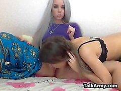 Sexy Russian Lesbians Having Fun