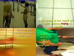 Spiare Uomo Facendo la doccia , le seghe & cazzo fin nei bagni pubblici
