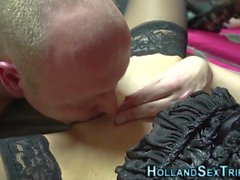 fingered real dutch whore amateur