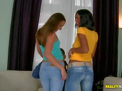 Hot Ass babes in jeans Amirah Adara and Isabella Chrystin