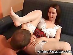 Student makes tutor lick and rim her