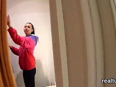Breathtaking czech nympho gets seduced in the mall and shagg