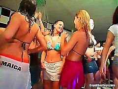 Steaming hot orgy in the bar