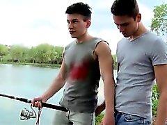 Hårlösa tonåring glad paret har sex Fiske Om röven att knulla !