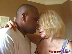 Dirty Grandma Gets Ghetto Black Cock