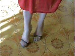 My Long Nylon Black Toes!!!!!