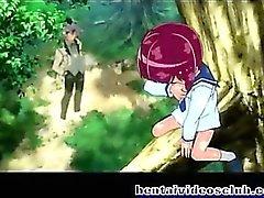 Del Anime allegro scopata e cummmed volto