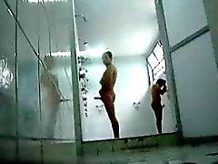 exhibitionist films himself jacking in public shower hot