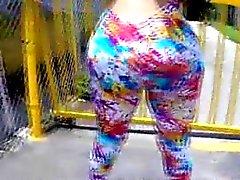 Huge booty latina twerk and titty play