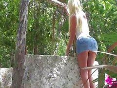 Ana Mancini at the well