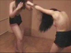 Topless Jean Shorts Catfight