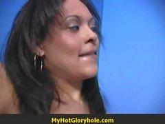 Sexy Ebony Deepthroats Gloryhole Dick 20
