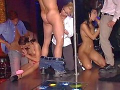 German orgy in the nightclub