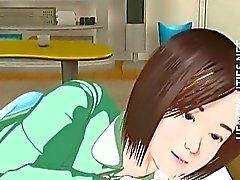 Hentai Fofo 3D menina possuir um sonho erótico