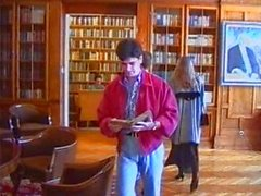 Russian Lolita Triple Fucked in Library